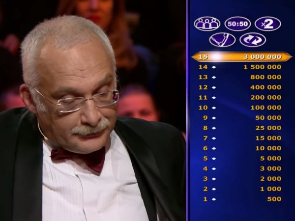 """""""Глупо поступил"""": Друзь ответил на обвинения в подкупе на """"Кто хочет стать миллионером?"""""""