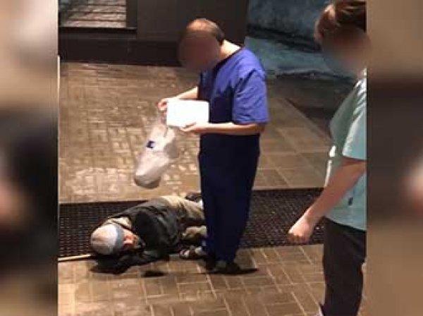 """""""Если умрет, в морг отправим"""": Сеть взорвало видео, как охранник выкинул пациента из больницы из-за внешнего вида"""