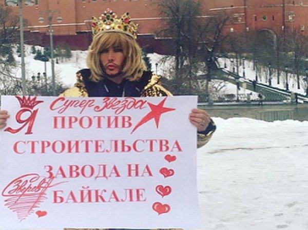 """""""Труба дело"""": одиночный пикет у Кремля довел Зверева до полиции"""