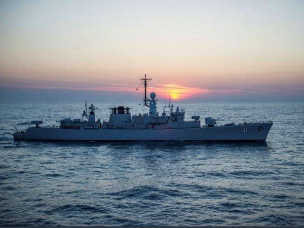 Опубликовано видео захода группы кораблей НАТО в Черное море