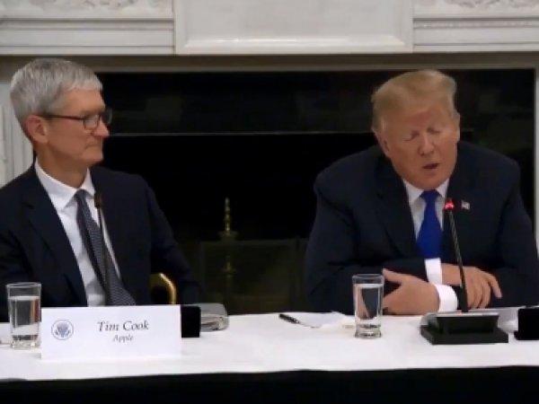 """""""Перепутал с Илоном Теслой"""": Трамп опозорился на встрече с главой Apple"""
