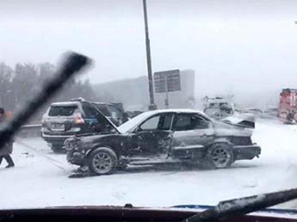 Авария на МКАДе 3 марта 2019: столкновение 40 машин попало на видео