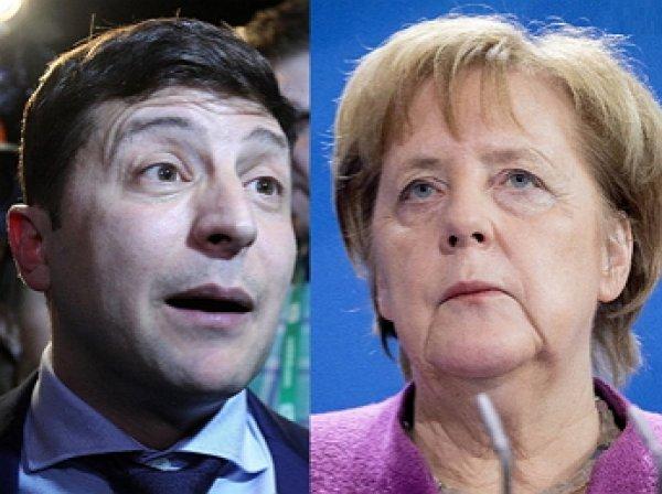 Меркель и Зеленский провели первый телефонный разговор