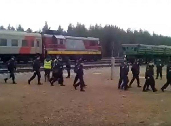 Под Архангельск прибыл поезд с бойцами Росгвардии: противники свалки ждут штурма (ВИДЕО)