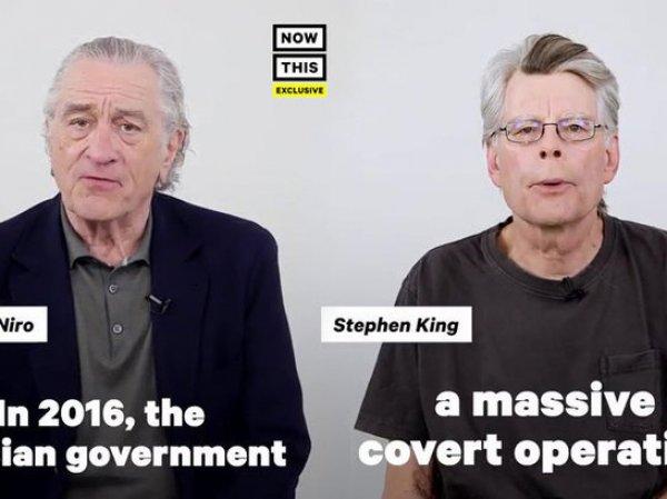 Роберт де Ниро и Стивен Кинг возмутили фанатов антироссийским роликом (ВИДЕО)