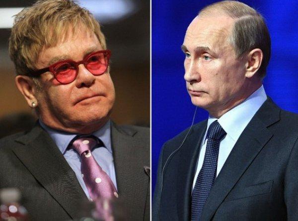 """""""Это лицемерие"""": Элтон Джон обвинил Путина в двуличности после интервью FT"""