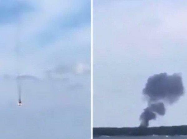 Смертельное столкновение немецких истребителей попало на видео