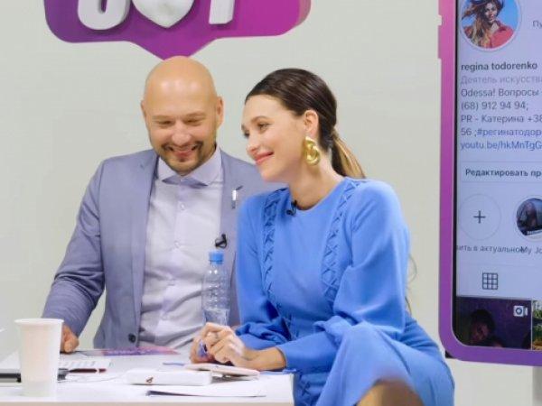Регина Тодоренко опозорилась, неприлично задрав ногу в платье на скандальном YouTube-шоу (ФОТО)
