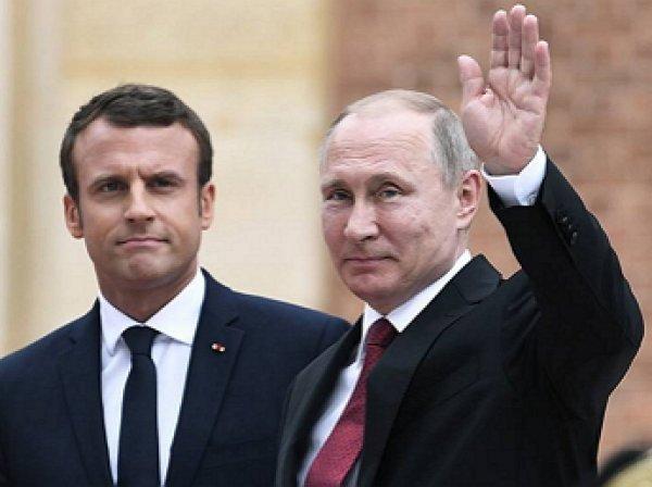 Путин иМакрон потелефону обсудили Сирию иУкраину