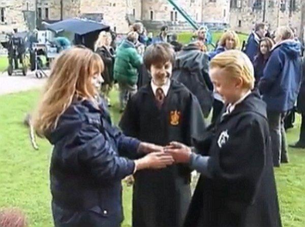 Сеть умилило архивное видео со съемок «Гарри Поттера»