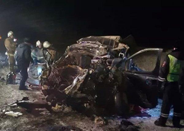 Авария под Оренбургом: минивэн столкнулся с фурой, 6 человек погибли (ВИДЕО)