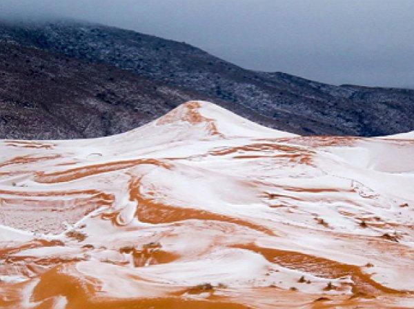 Погодная аномалия: Северную Африку засыпало снегом