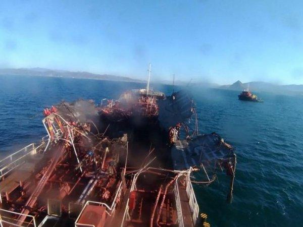 Опубликовано видео взрыва на танкере в Находке: трое погибших