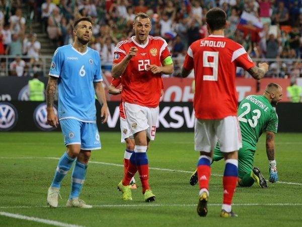 Россия - Сан-Марино, счет 5:0: обзор матча, видео голов, результат (ВИДЕО)