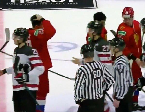 Российские хоккеисты после разгрома Канады отказались пожимать руку капитану ее сборной (ВИДЕО)