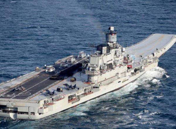 На горящем в Мурманске крейсере «Адмирал Кузнецов» пострадали три человека (ВИДЕО)