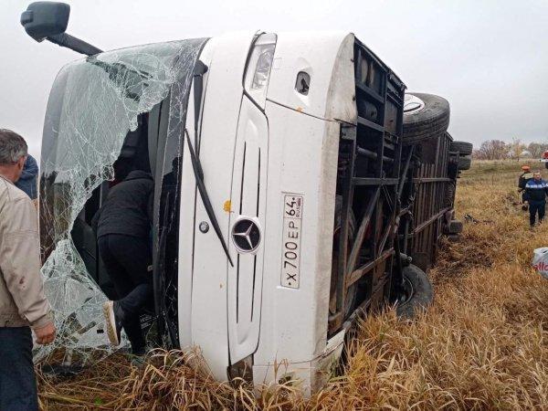 Авария в Нижегородской области: на трассе перевернулся автобус, пострадали 25 человек (ВИДЕО)