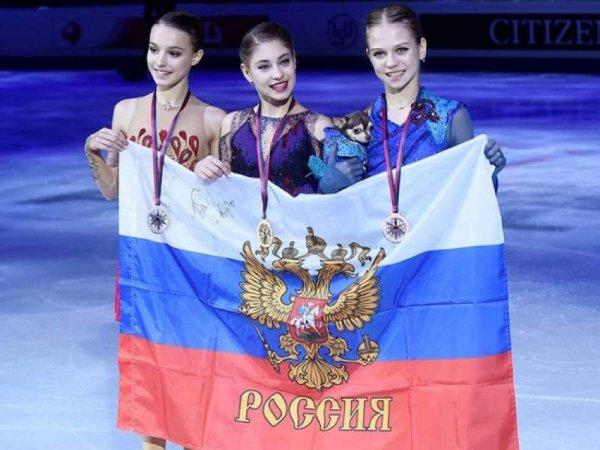 Российские фигуристки заняли весь пьедестал гран-при в Турине