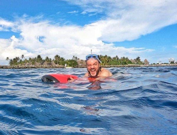 Киркоров оконфузился во время плавания на Мальдивах