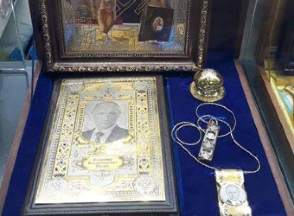 В Пулково торгуют иконами с Путиным (ФОТО)