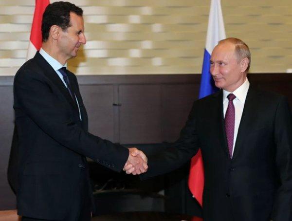 Путин прибыл в Сирию, где встретился с Асадом