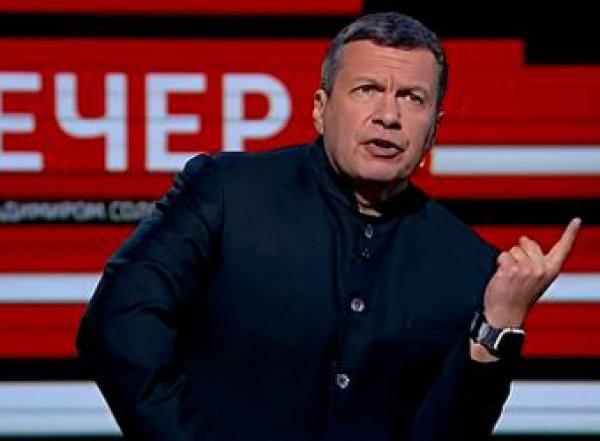 Соловьев накричал на эксперта в прямом эфире своей программы (ВИДЕО)