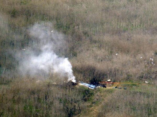 Видео крушения вертолета с Коби Брайантом появилось в Сети