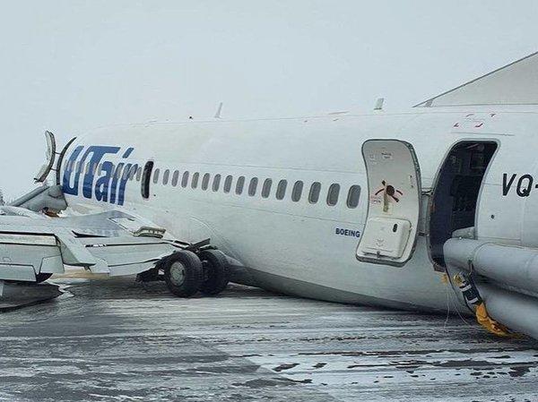 Жесткая посадка самолета в Усинске попала на видео