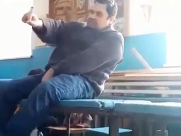 Пьяного трудовика на уроке в Татарстане сняли на видео