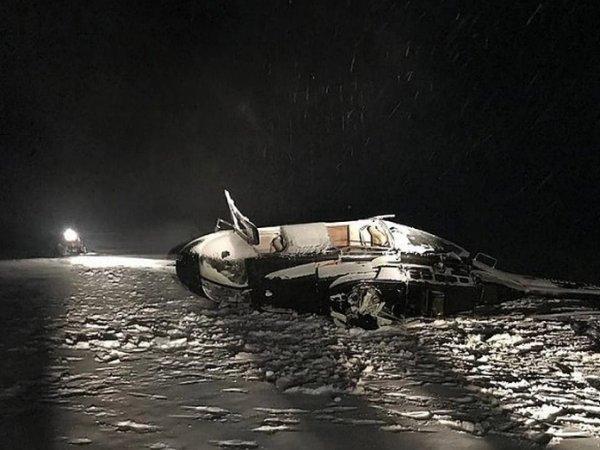 Кадры с места гибели депутата Госдумы Хайруллина при крушении вертолета появились в Сети