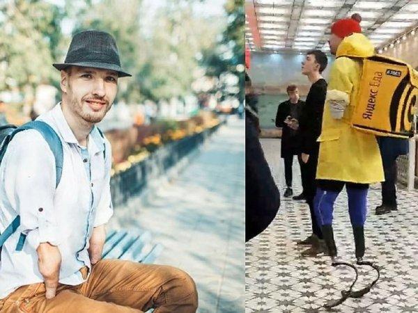 """Чемпион мира без рук и ног устроился в """"Яндекс.Еду"""", чтобы заработать на Игры в Токио"""