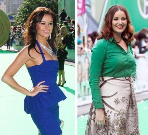 Вчерашние красавицы, которые ведут борьбу с лишним весом