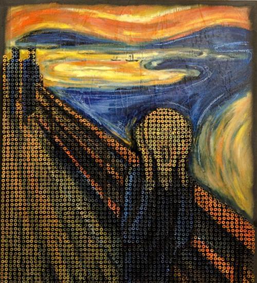 Художник воссоздает шедевры мировой живописи из шурупов