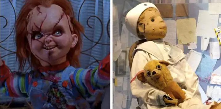 1) Детская игра (1988) Серия фильмов про злобную куклу Чакки взята не из воздуха. В начале 20 века маленький мальчик из Флориды получил в подарок куклу Роберта. А вскоре выяснилось, что Роберт был на самом деле куклой Вуду, деланной в реальную величину предполагаемой жертвы. К счастью, в отличие от Чакки, в Роберте не живет призрак маньяка убийцы, и сейчас прототип известного кукольного злодея находится в музее под специальным стеклянным колпаком. Правда смотрители говорят, что его лучше не тревожить — Роберт этого не любит…