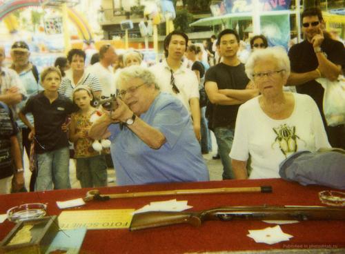 73-летняя история женщины с ружьём