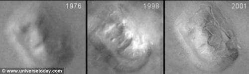 Фотографии высокого разрешения разоблачили лицо на Марсе