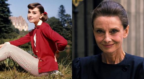Одри Хепбърн Тази актриса никой не е стара, защото я познавахме твърде добре млада. Въпреки това черно-бялата филмова звезда Холивуд успя да стане възрастна актриса, преди да бъде убита от рак. По някаква причина е срамно да я видиш така.
