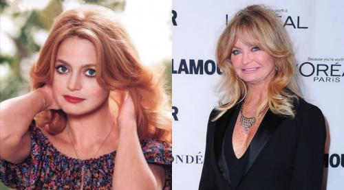 Goldie Hawn Как искате да запомните тази актриса младо момиче, което получава Оскар за най-добра актриса в стария холивудски шедьовър Cactus Flower. Но оттогава минаха много десетилетия и Голди Хон сега изглежда така.