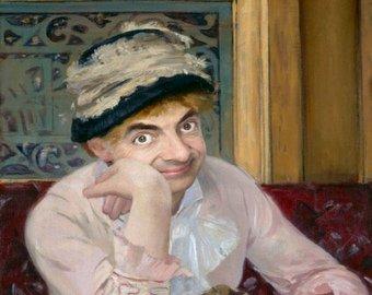 Мистер Бин заменил героев известных портретов