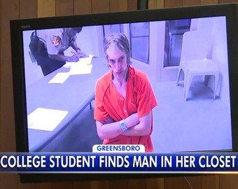 Студентка обнаружила в своем шкафу прожившего там несколько дней мужчину