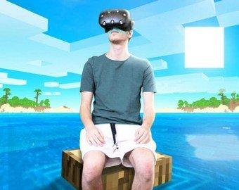 Геймер провел 24 часа в Minecraft VR