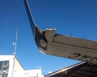 Лайнер задел крылом полосу при взлете