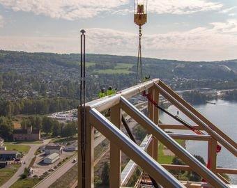 Cамое высокое в мире деревянное здание построили в  Норвегии
