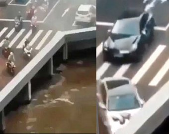 """В Сети стало вирусным видео с """"исчезающими"""" автомобилями"""