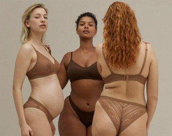 Покупателей порадовали женские тела без фотошопа в рекламе нижнего белья