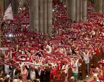 4500 фанатов «Кёльна» помолились в соборе за любимую команду