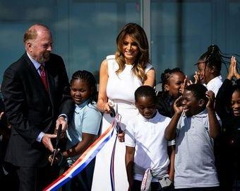 Меланья Трамп оконфузилась на открытии памятника Джорджу Вашингтону