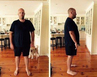 Австралиец похудел за год на 53 кг на картошке