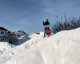 В Канаде выпало рекордное за 20 лет количество снега