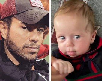 Энрике Иглесиас показал 2-месячную дочку Машу